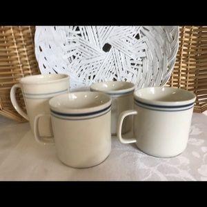 Boho Mismatched Vintage Stoneware Mugs